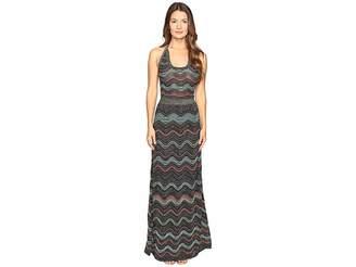 M Missoni Lurex Ripple Halter Neck Maxi Dress Women's Dress