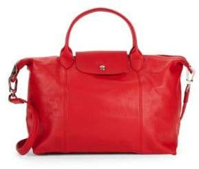 Longchamp Small Le Pliage Leather Tote