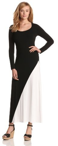 Karen Kane Women's Split Color Long Sleeve Maxi