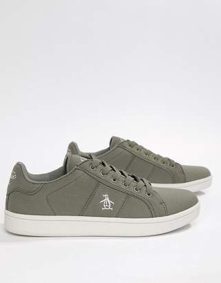 Original Penguin Stedaman Canvas Sneakers In Gray