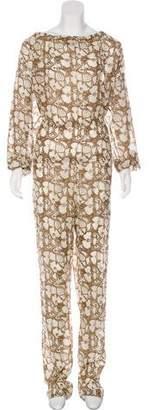 Stella McCartney Printed Long Sleeve Jumpsuit
