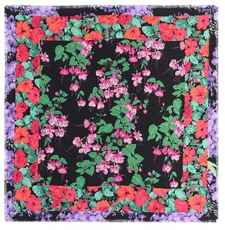 Gucci Floral-printed silk scarf