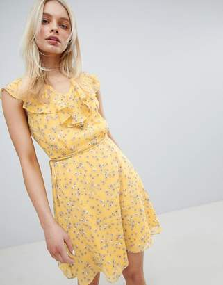 Jack Wills Frill Floral Printed Dress