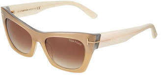 Tom Ford Cat Eye Plastic Sunglasses