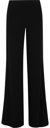 Diane von Furstenberg - Preston Stretch-crepe Wide-leg Pants - Black $350 thestylecure.com