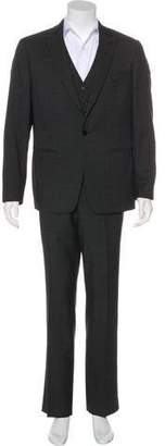 John Varvatos Wool Three-Piece Suit