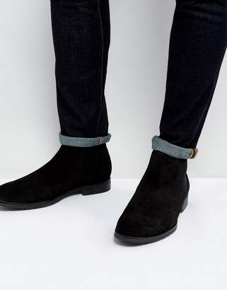 Dead Vintage Chelsea Boots In Black Leather
