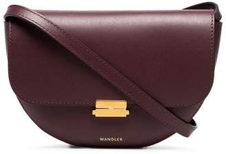 Wandler Burgundy Anna Leather Buckle Belt Bag