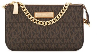 MICHAEL Michael Kors logo clutch bag