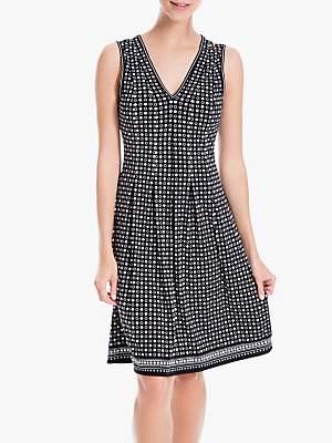 Max Studio Spot Print Flared Dress