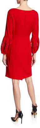 Karl Lagerfeld Paris Lantern-Sleeve Sheath Dress