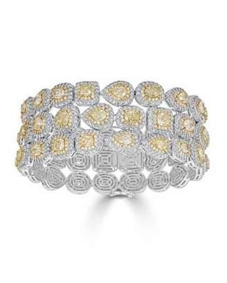 ZYDO Limoncello 18k Two-Tone Gold & Diamond Multi-Row Bracelet