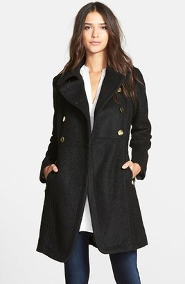 Women's Guess Double Breasted Boucle Cutaway Coat $240 thestylecure.com