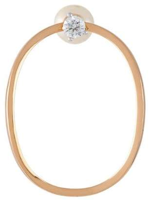 Delfina Delettrez pearl and diamond loop earrings
