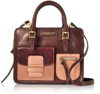 The Bridge Burgundy Genuine Leather Mini Tote Bag