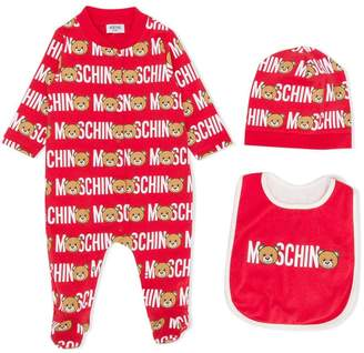 Moschino Kids Teddy logo print pajama set