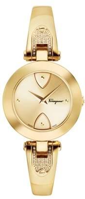 Salvatore Ferragamo Gilion Diamond Bangle Watch, 32mm