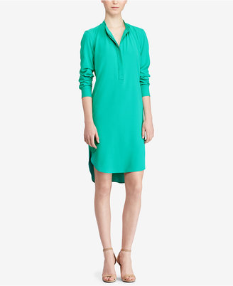 Lauren Ralph Lauren Crepe de Chine Shirtdress $145 thestylecure.com