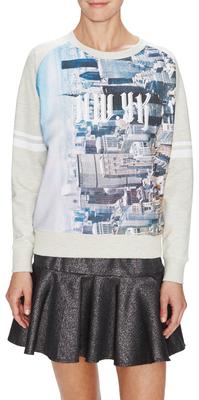Cotton New York Tagged Sweatshirt $103 thestylecure.com