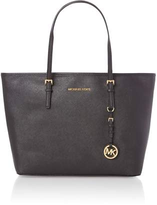 Michael Kors Jetset travel medium black tote bag