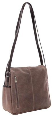Piel Leather TOP-ZIP HANDBAG/SHOULDER BAG