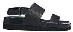 Senso Iggy Black Footbed Flat Sandals