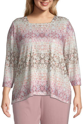Alfred Dunner Home For The Holidays Mosaic Biadere Blouse - Plus