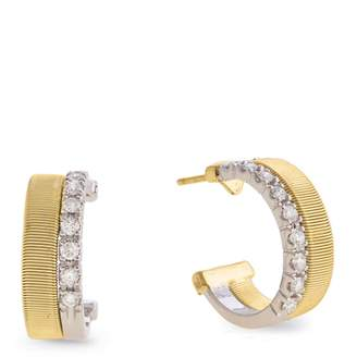 Marco Bicego Yellow and White Gold Diamond Two Row Masai Earrings