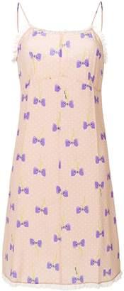 Miu Miu bow print dress