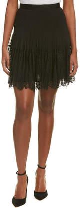 Rebecca Taylor Pleated Silk Skirt