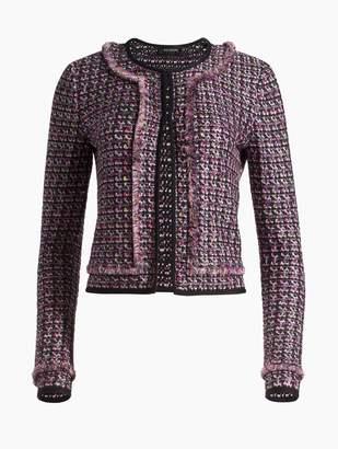 St. John Painterly Sheen Tweed Knit Jacket