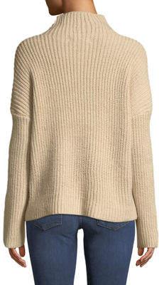 Marled By Reunited Mock-Neck Drop-Shoulder Sweater