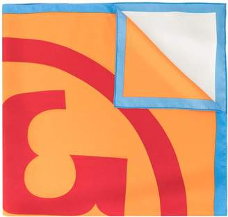 Tory Burch colour-block logo scarf