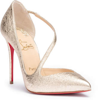 Christian Louboutin Jumping 100 vintage platinum pumps