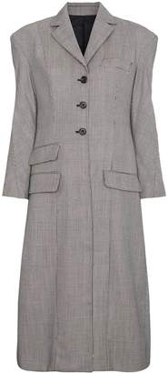 Hourglass Wright Le Chapelain tailored Prince of Wales check coat