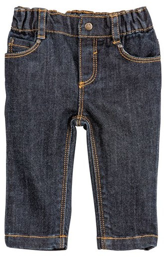 Petit Bateau Unisex baby five-pocket jeans in supple stretch denim