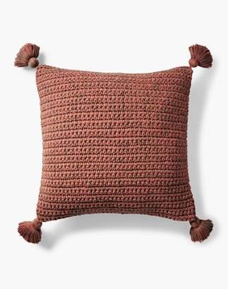 Madewell Coyuchi Crocheted Tassel Organic Cotton Pillow Cover