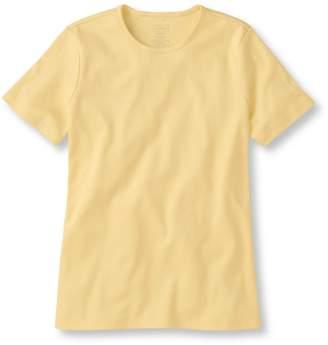 L.L. Bean L.L.Bean Pima Cotton Tee, Short-Sleeve Crewneck