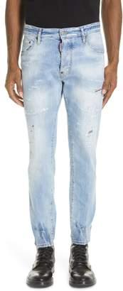 DSQUARED2 Light Wash Cigarette Fit Jeans