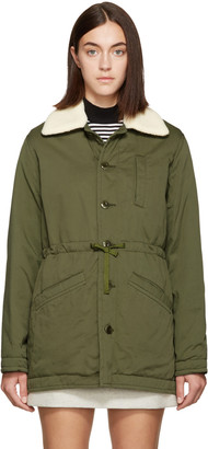 A.P.C. Green Nepal Coat $515 thestylecure.com