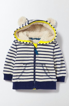 Toddler Boy's Mini Boden Shaggy Zip Hoodie $55 thestylecure.com
