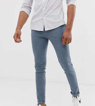 Asos Design DESIGN Tall skinny chinos in storm grey