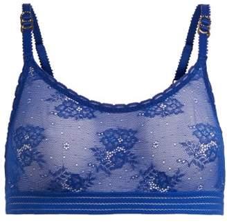 Stella McCartney Lace Bralette - Womens - Blue