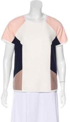 Jonathan Simkhai Short Sleeve Colorblock Top