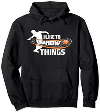 I Like To Throw Things Track Field Discus Athlete Hoodie