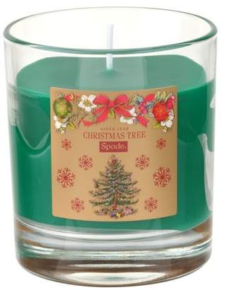 Spode Christmas Tree Boxed Spruce Pine Glass Scented Jar Candle