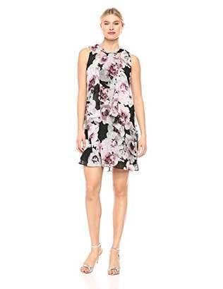 SL Fashions Women's Sleeveless Cutout Pearl Neck Dress