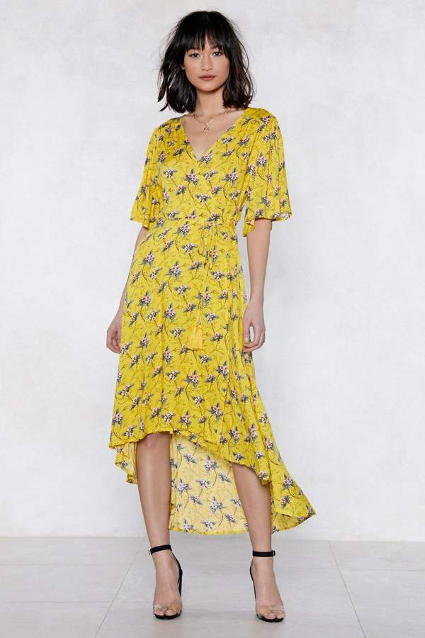 nastygal Finish It Off Floral Dress