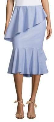 Tiered Ruffled Midi Skirt
