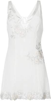 La Perla embroidered slip top